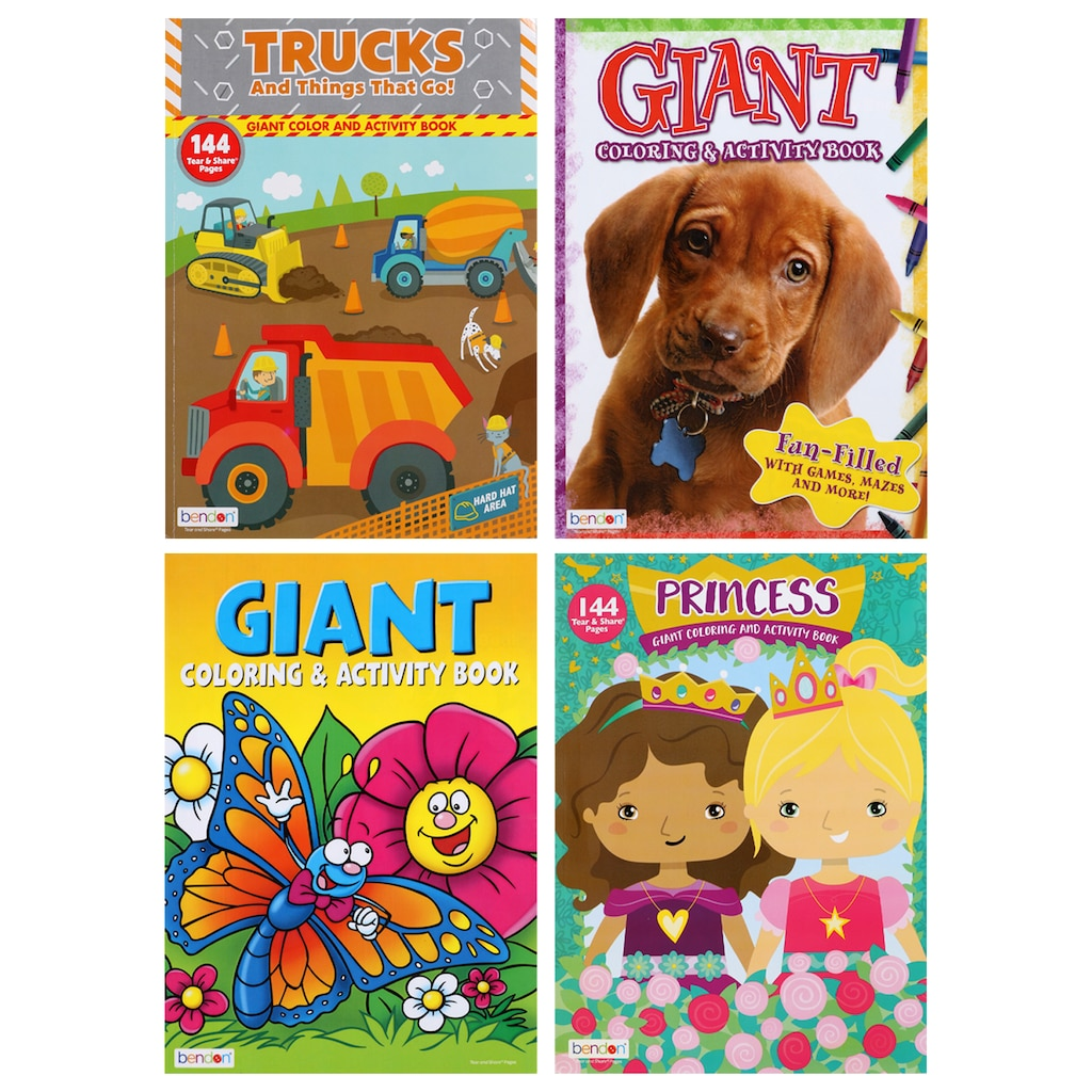 Giant Coloring And Activity Books 160 Pages