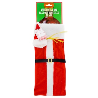 View Santa Wine Bottle Gift Bags