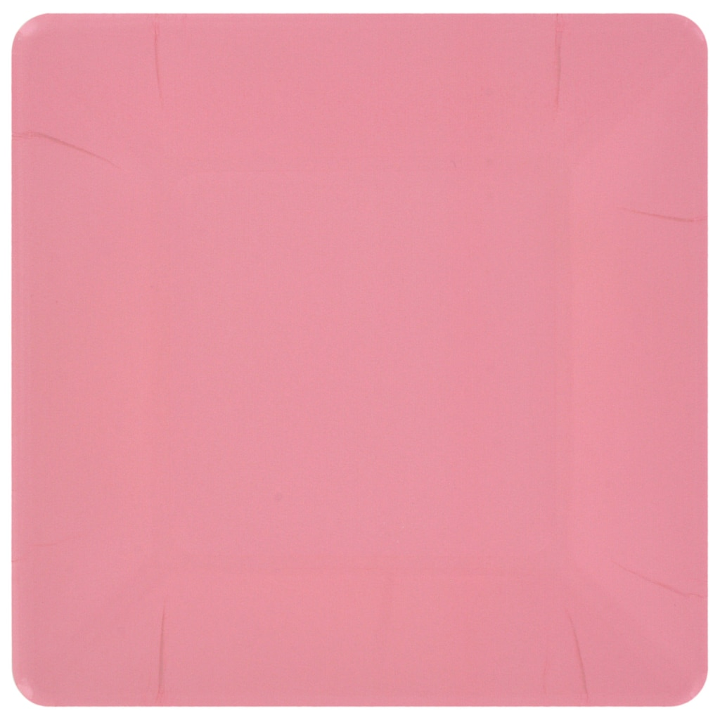 Square Pink 7 in. Paper Party Plates, 18-ct. Packs