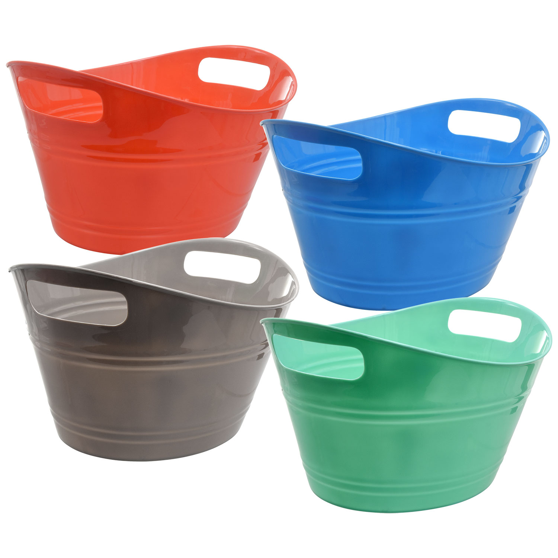 Dollartreecom Bulk Bright Oval Plastic Storage Tubs With Handles