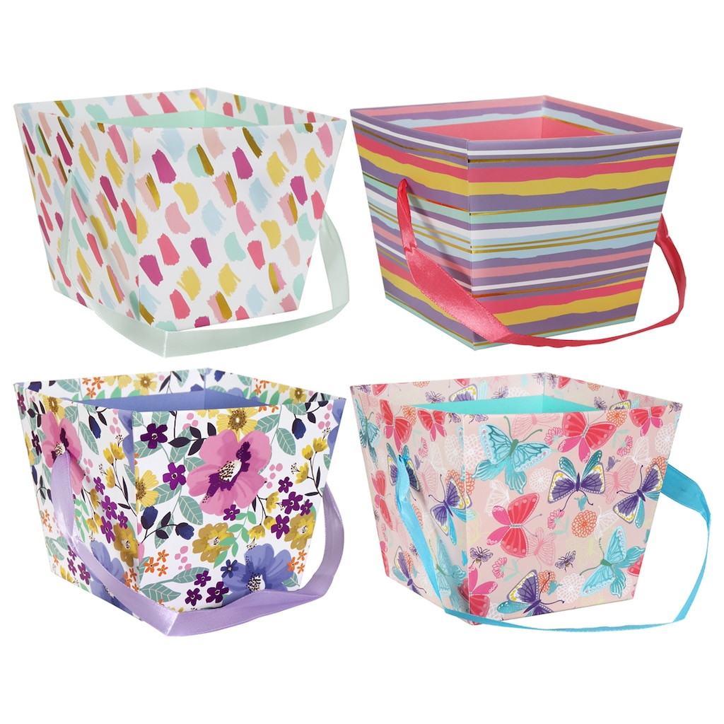 f78e11a73c5 Gift Basket Boxes with Ribbon Handles