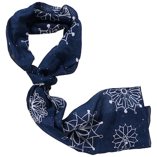 Christmas Scarf.Christmas House Thin Fashion Scarves 8x60 In