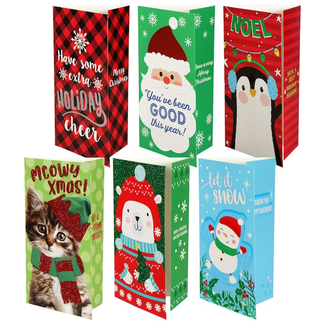 Christmas House Greeting Cards wtih Money Holders, 8-ct. Packs