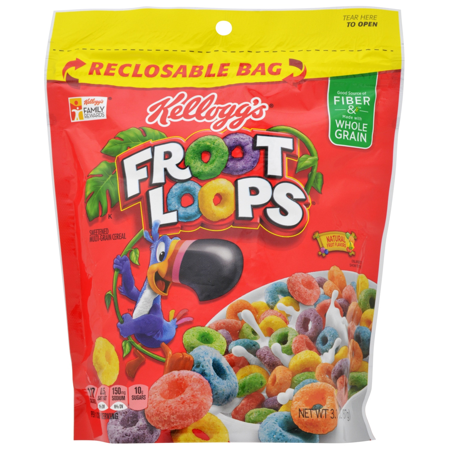 Kellogg's Froot Loops Cereal,.