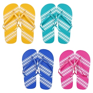 f84d445af View Women s Striped Rubber Flip Flops