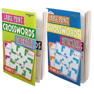 Kappa Special Large-Print Crossword Puzzle Books, 96 Pages