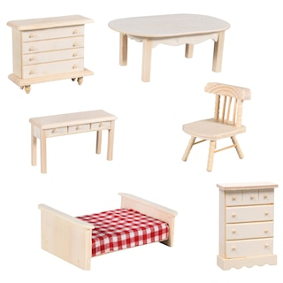 Bulk Wooden Doll House Furniture