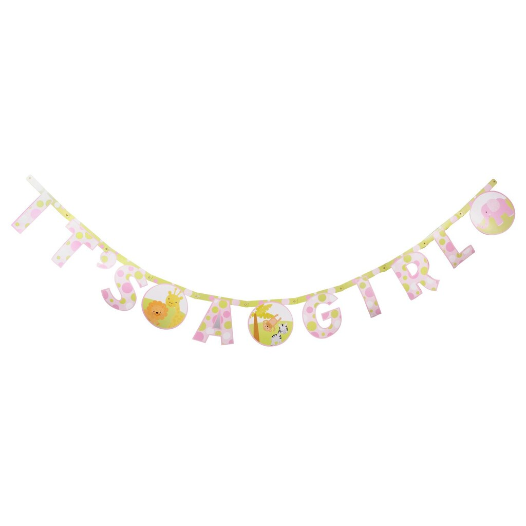 69f98688172 Display product reviews for Pink Its a Girl Baby Shower Letter Banners