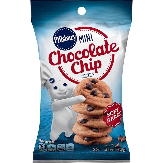 Pillsbury Mini Soft Chocolate Chip Cookies 3 Oz Packs