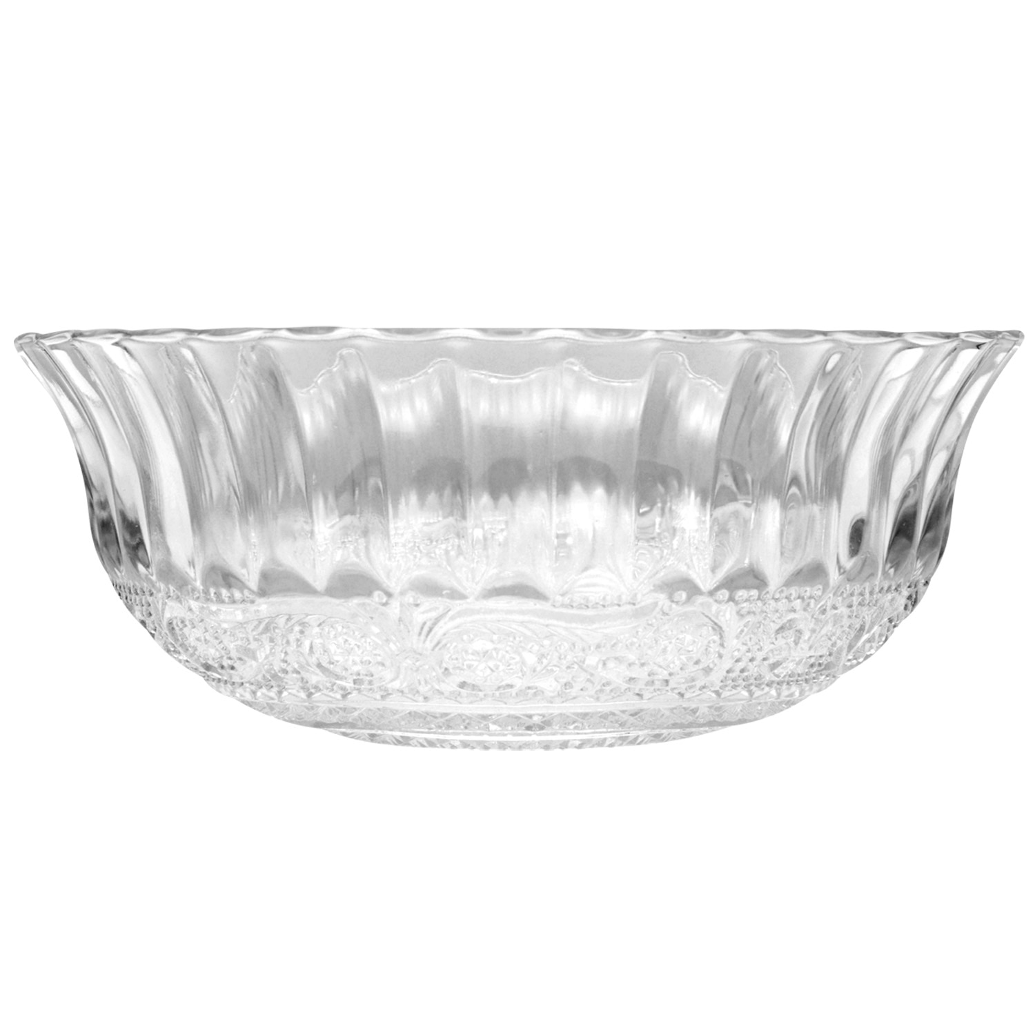 Decorative Clear Glass Bowls 8 In