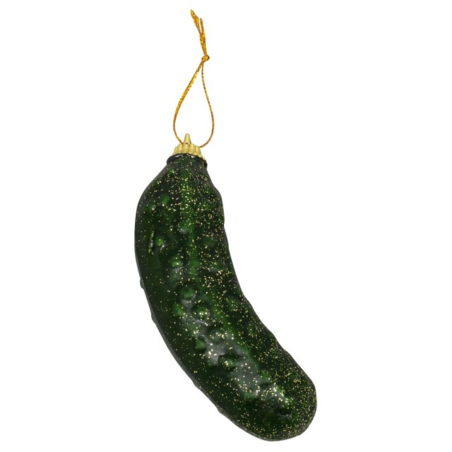 Pickle Christmas Ornament.Glittery Christmas Pickle Decorations