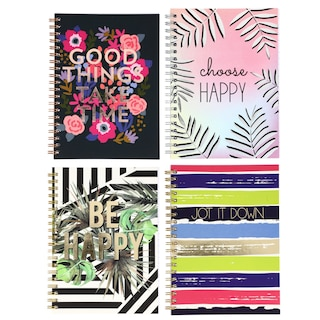 View Spiral Notebooks with Inspirational Covers,