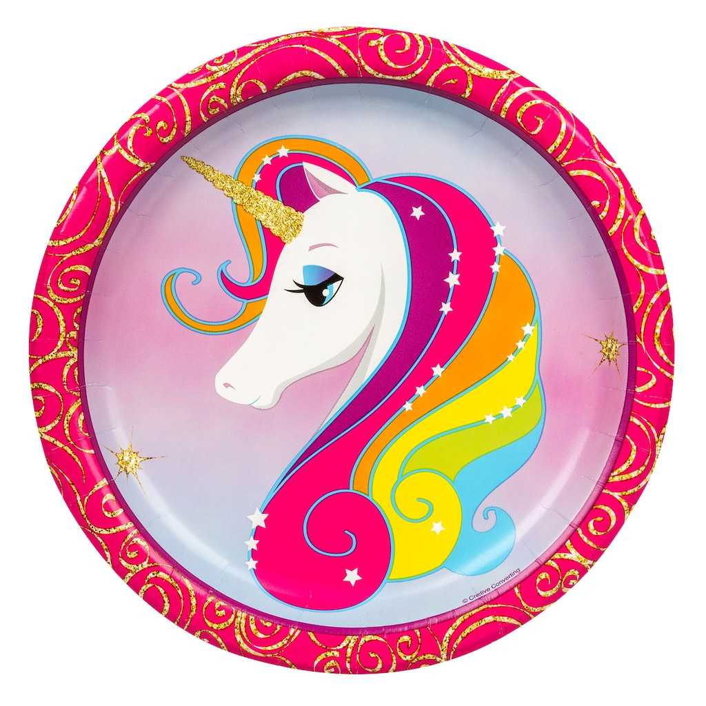 Unicorn Paper Plates 9 In 18 Ct Packs