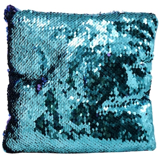 Reversible Mermaid Sequin Pillows, 8x8x2 in
