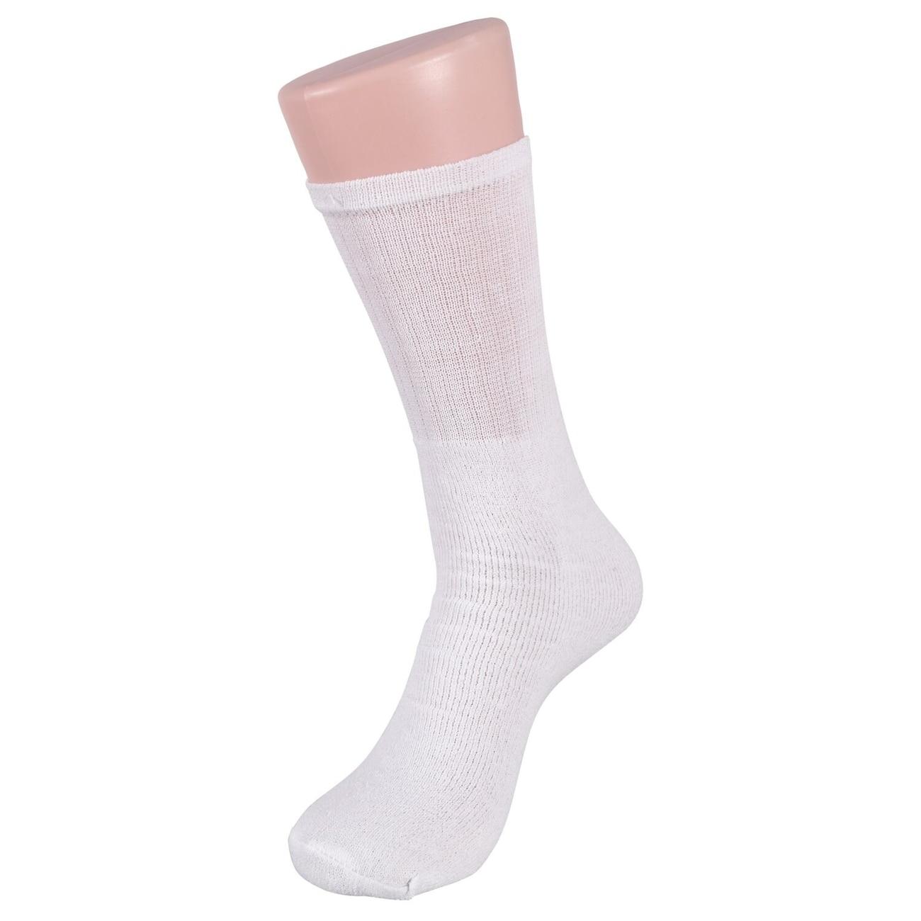 27bb34f42 Men s Premium Size 8-13 White Athletic Crew Socks