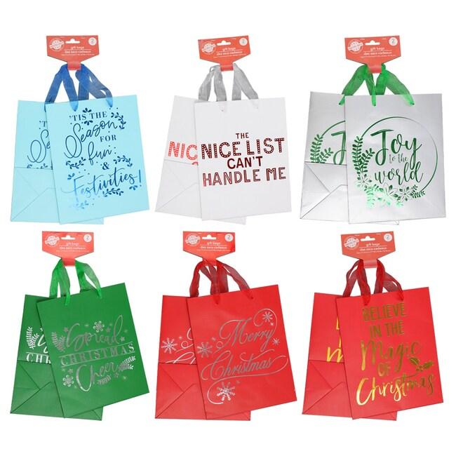 Christmas House Medium Gift Bags 2 Ct Packs
