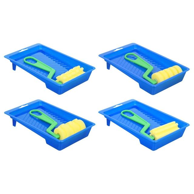 Jot Art Foam Paint Rollers With Trays 7 875x4 625 In