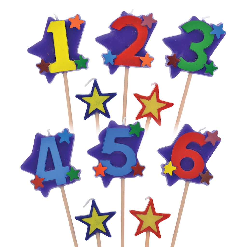 Display Product Reviews For Number Birthday Candles On A Stick 3 Pc Packs
