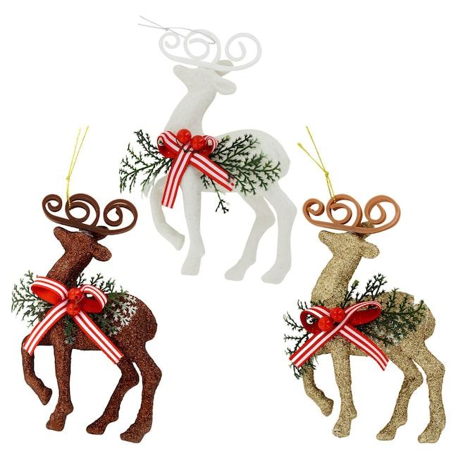 Bulk Christmas Ornaments.Christmas House Glitzy Reindeer Ornaments