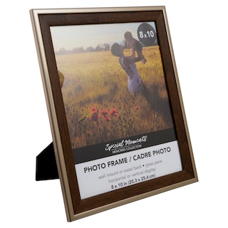 280158 Special Moments Wood Look Frames With Plastic Bronze Borders 8x10 In