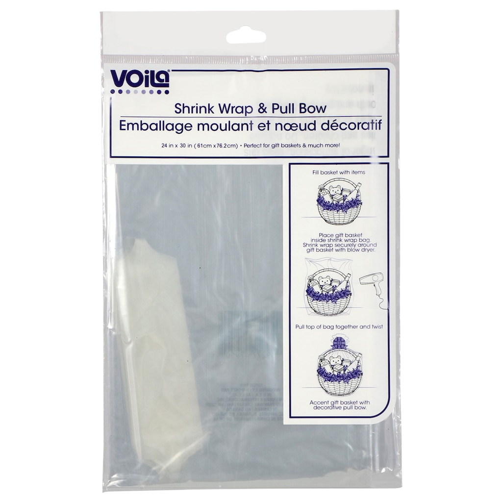 Shrink Wrap Bags With Pull Bows