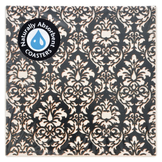 dollartree com damask stone beverage coasters 3 75 in