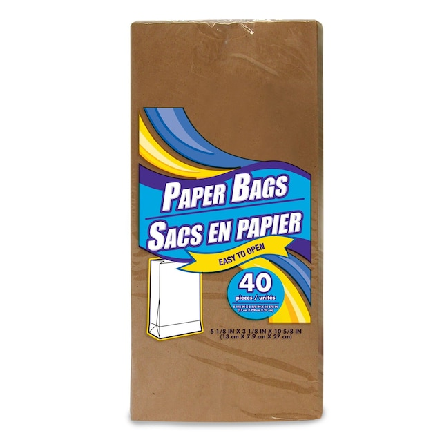 8c0b247e89f7 Brown Paper Lunch Bags, 40-ct. Packs