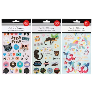 View Let's Planner Stickers, 4-Sheet Packs