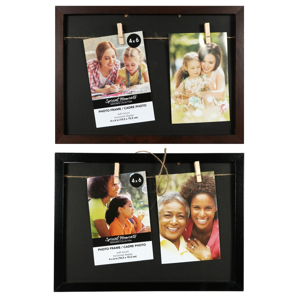 2c0734ad08a9 Special Moments Black Collage Picture Frames with Clothespin Clips