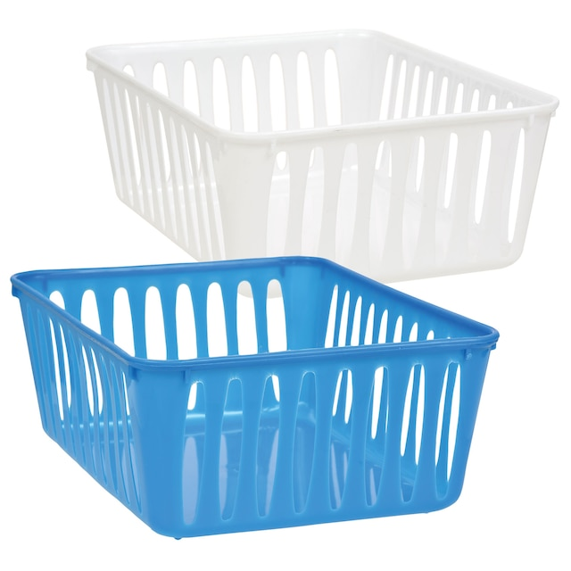 View Small Rectangular Slotted Plastic Baskets