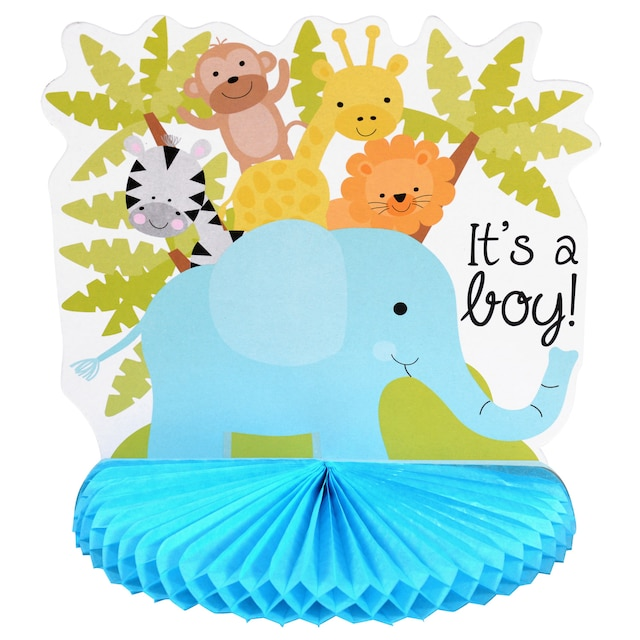 Blue Its A Boy Baby Shower Centerpieces 10 In