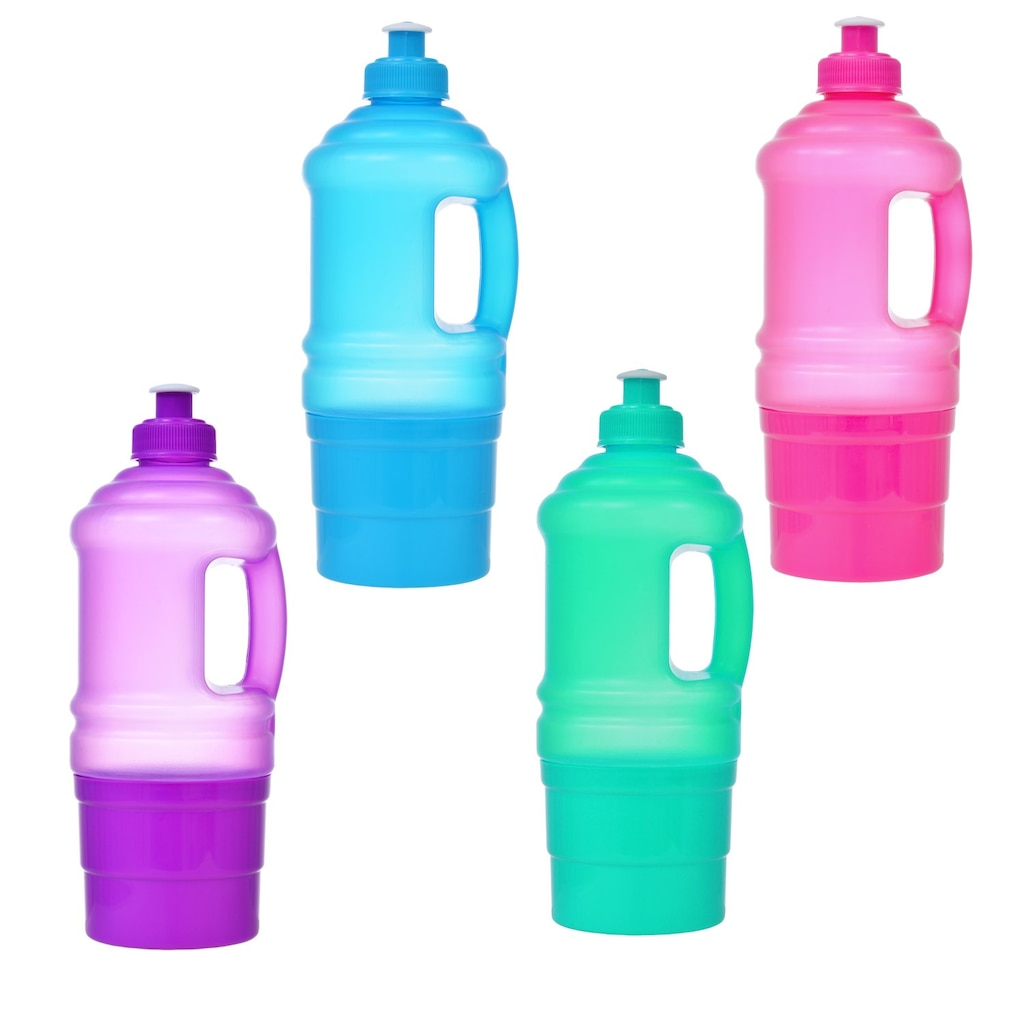 Translucent Plastic Water Bottles with Attached Snack Storage