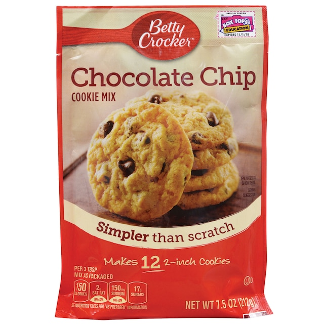 Betty Crocker Chocolate Chip Cookie Mix 7 5 Oz