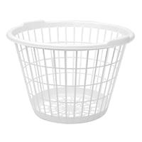 Bulk White Stacking Plastic Laundry Baskets Dollar Tree