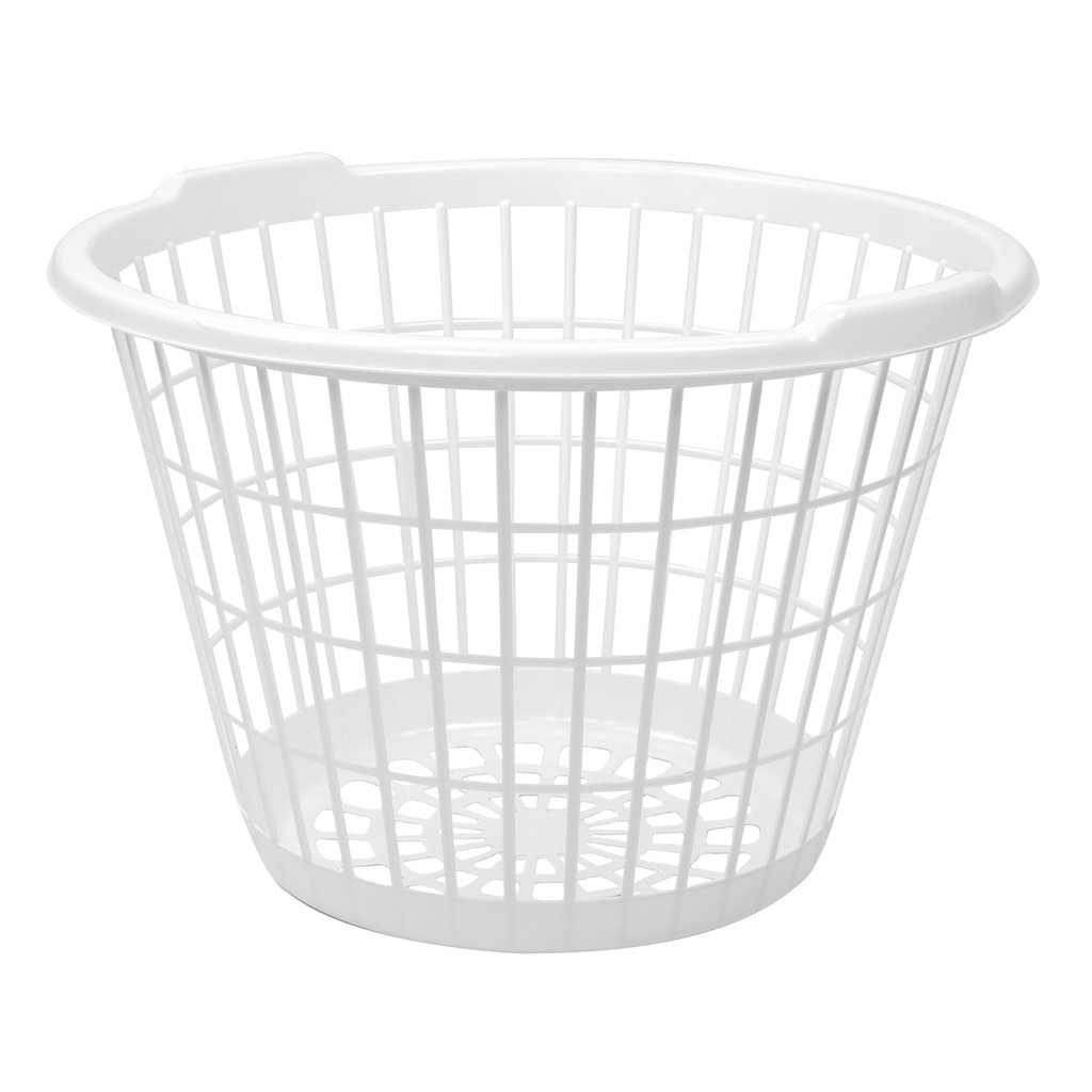 White Stacking Plastic Laundry Baskets