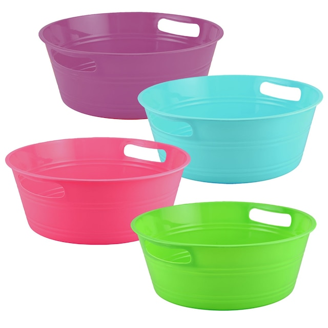 Dollartreecom Bulk Round Plastic Storage Tubs With Handles