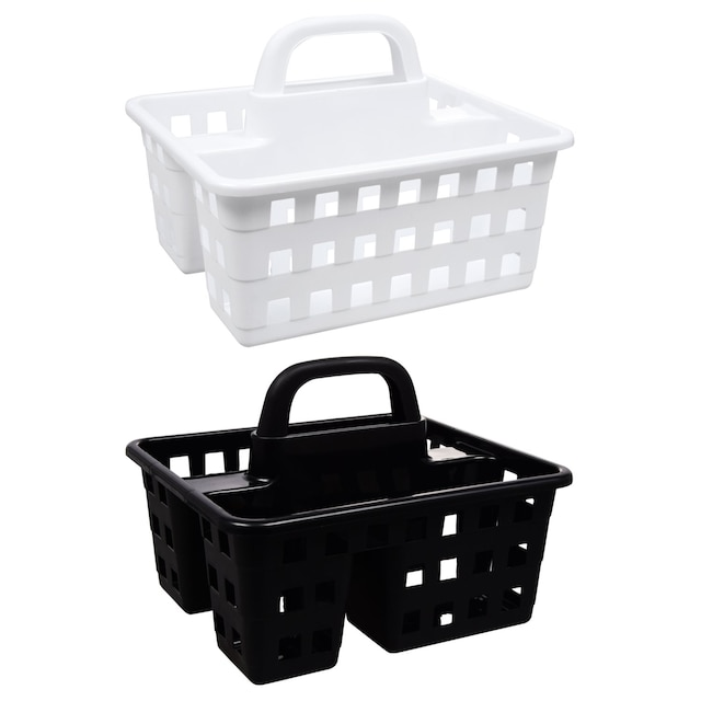 Divided 3 Compartment Plastic Caddies 10x8 75x7 5 In