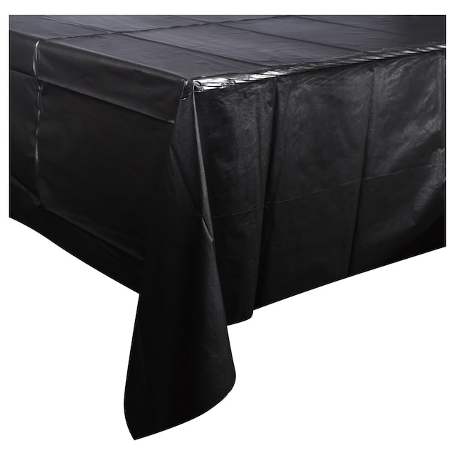 Incredible Black Plastic Table Covers 54X108 Download Free Architecture Designs Scobabritishbridgeorg
