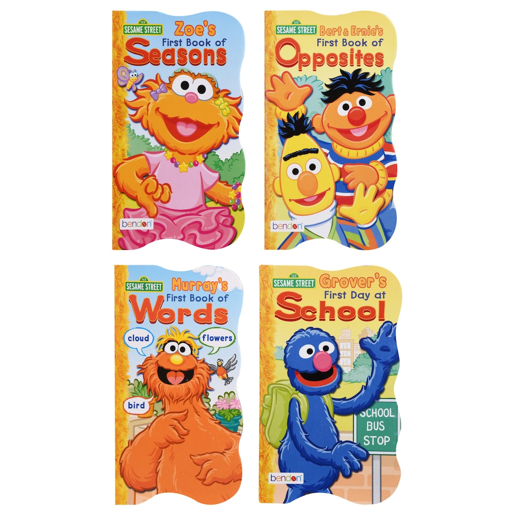 Sesame Street The Letter Of The Month Club.Sesame Street Squiggle Shaped Board Books