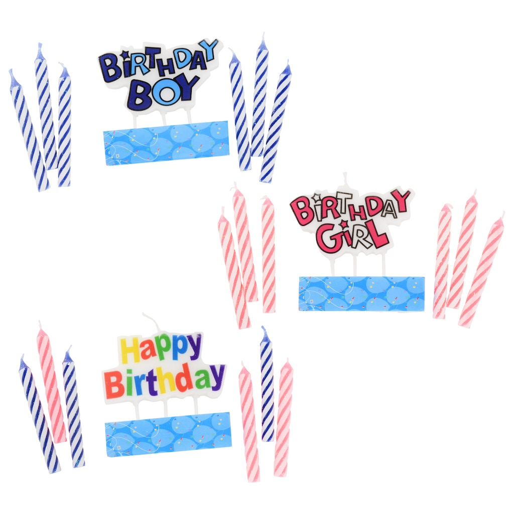 Colorful Birthday Decorative Candle Sets 8 Pc