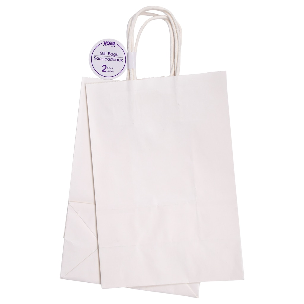 Display Product Reviews For Medium White Paper Gift Bags 2 Ct Packs