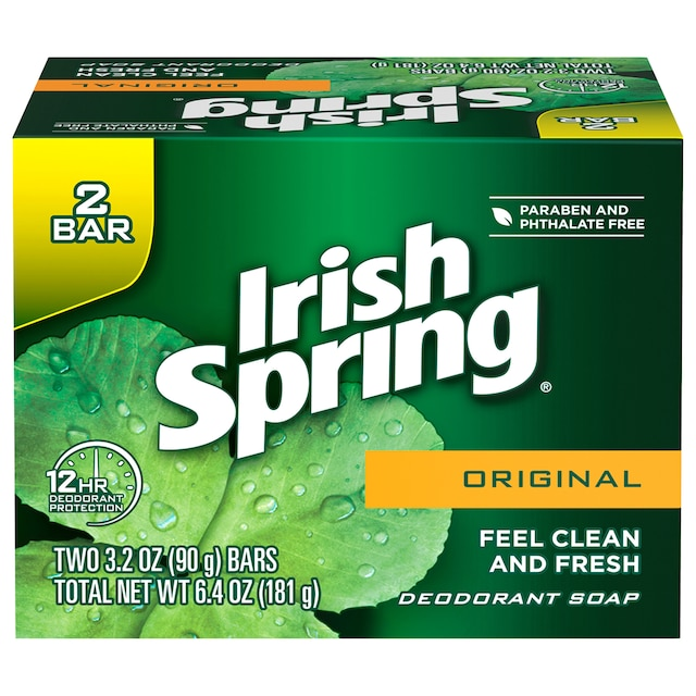 Irish Spring Original Scent Soap Bars, 2-ct  Packs