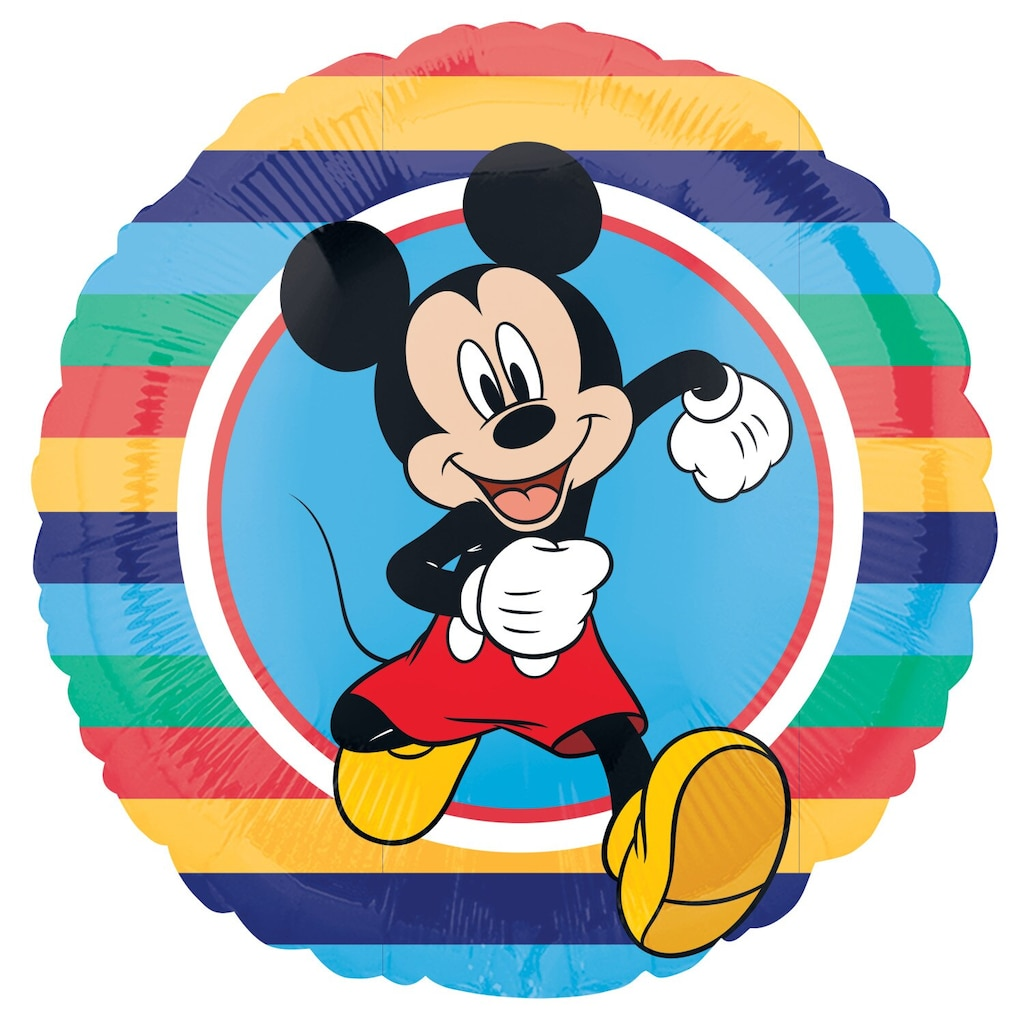 ff25a1b8ed4 Disney Mickey Mouse Happy Birthday Foil Balloons with Attached Ribbons