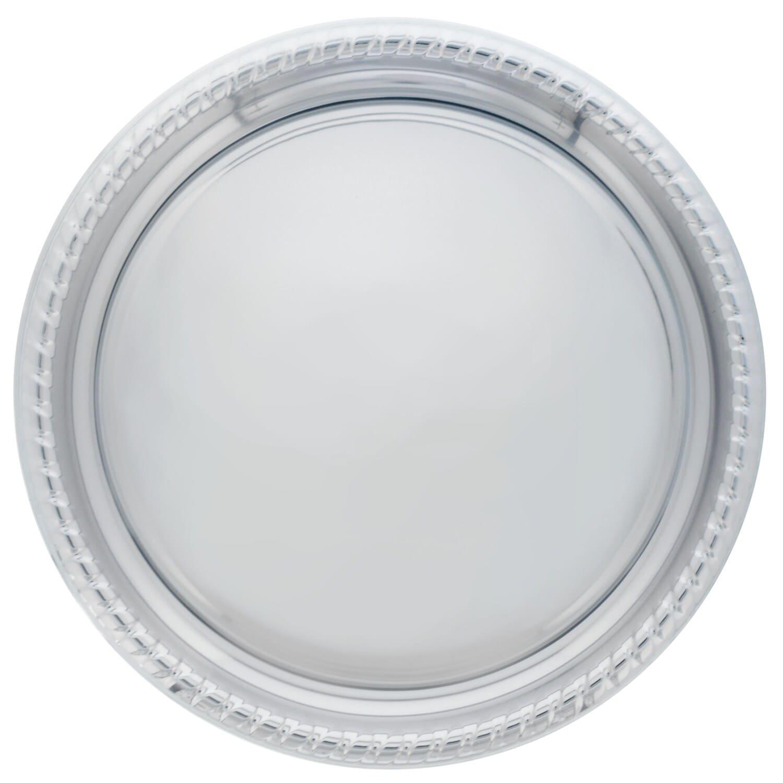 5af6764638f3 Round Silver Plastic Serving Trays