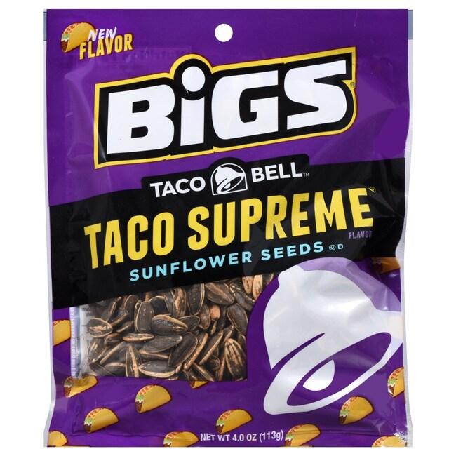 Taco Bell(TM) Bigs Taco Supreme Sunflower Seeds, 4 oz  Bags