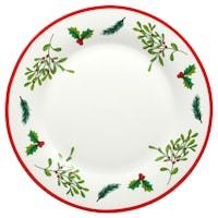 Bulk Royal Norfolk Holly Berry White Stoneware Dinner Plates, 10.5