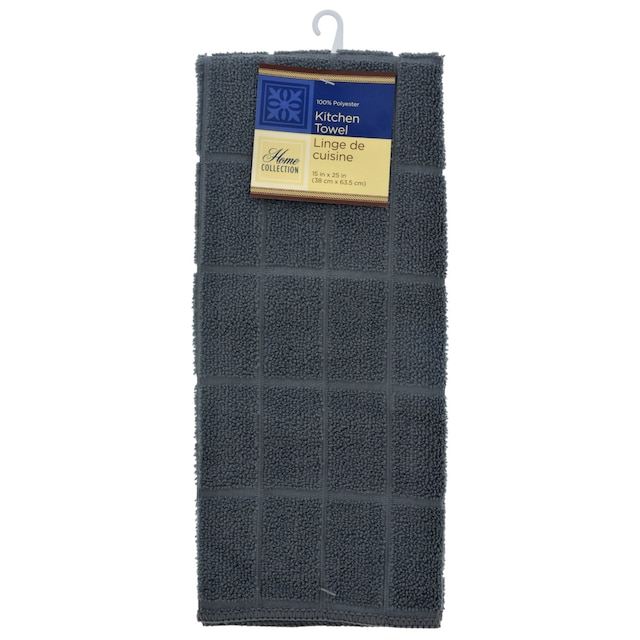 Home Collection Gray Windowpane Pattern Kitchen Towels, 15x25 in.