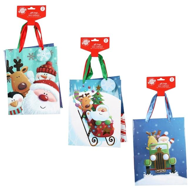 Christmas House Medium Elegant Holiday Gift Bags 2 Ct Packs
