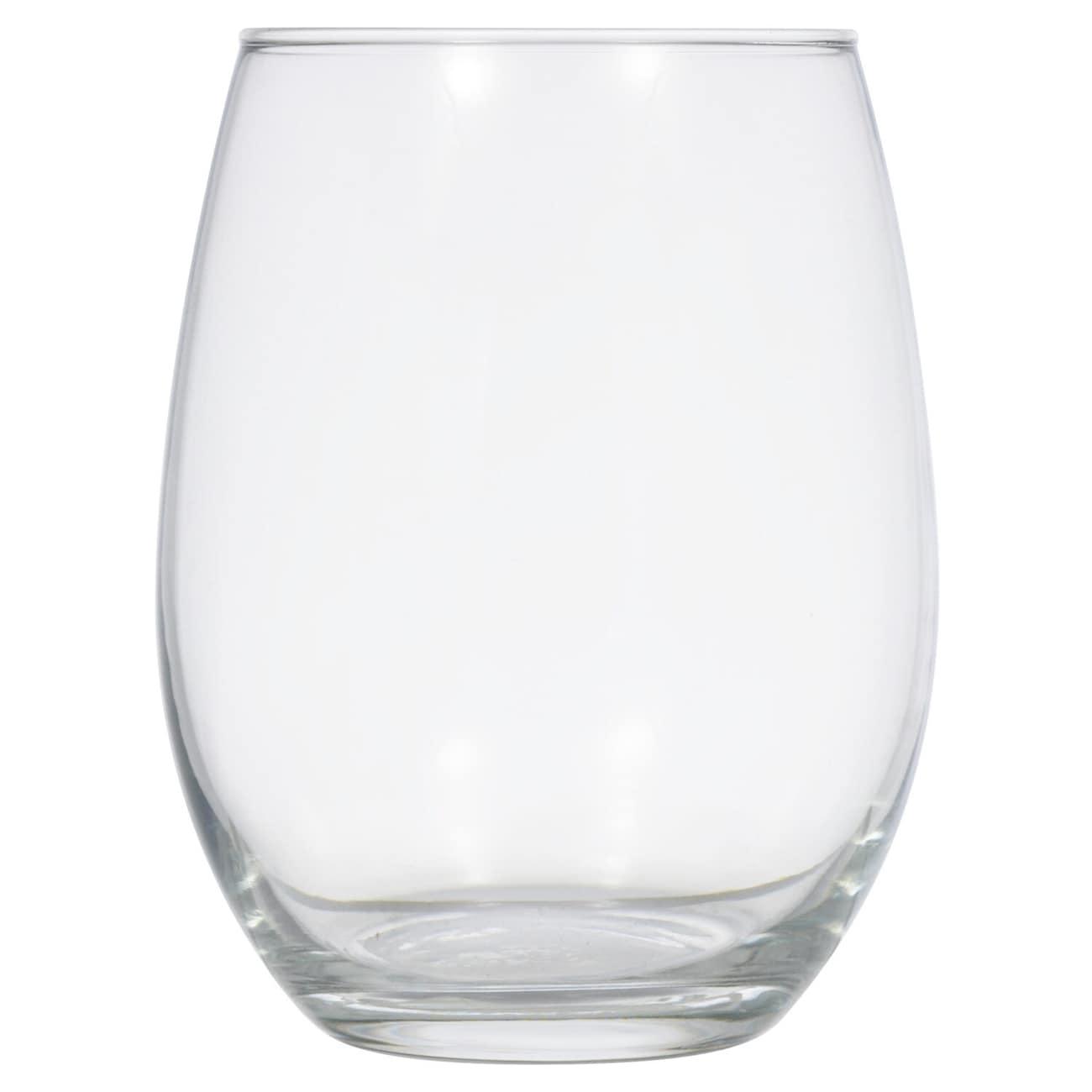 86984ac4c4c Stemless Glass Wine Glasses