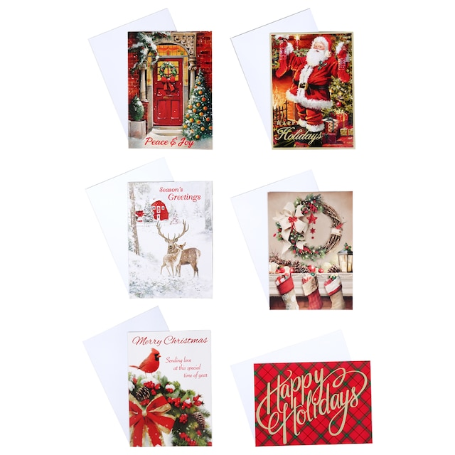 Unique Boxed Christmas Cards.Christmas House Traditional Boxed Christmas Cards 14 Ct Packs